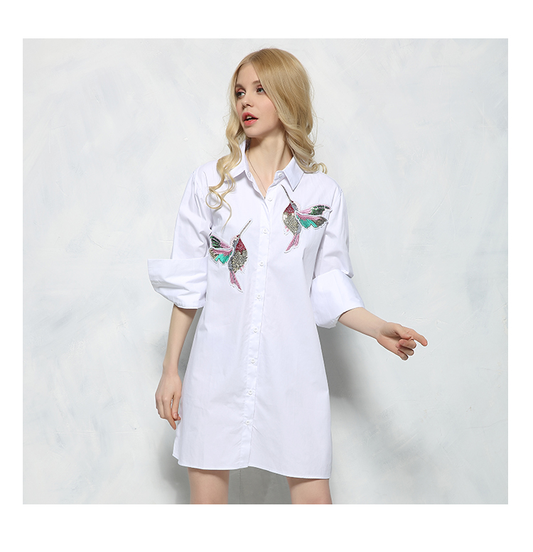 HTB1ocBCSXXXXXcbaXXXq6xXFXXXs - New arrival 2017 Women Bird Embroidered Blouse Shirts fashion Long sleeve