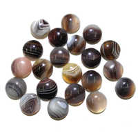10 PCSStripe Agate Natural Stones Cabochon 8mm 10mm 12mm 14mm 16mm 20mm Round No Hole For Making Jewelry DIY