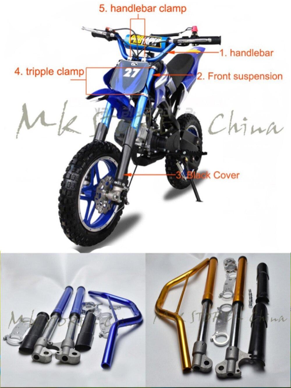 2 Tiempos Manillar Suspensión Delantera Protege La Cubierta Para El Pequeño Apollo Mini Moto Orion Niños Bici De La Suciedad 47cc 49cc 50cc 70cc