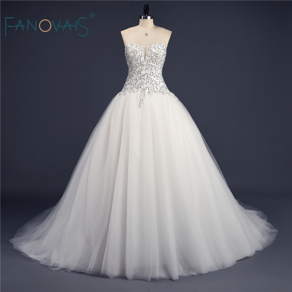 Buy 2016 elegant modest ball gown crystal for Elegant ball gown wedding dresses