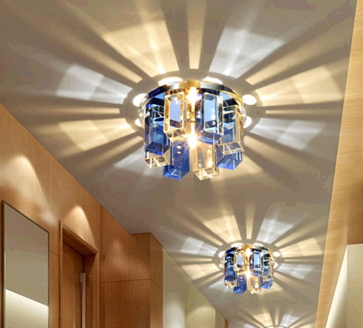 ФОТО 3 color LED ceiling lights for Dinning/living room lighting Entrance ligts Hall light Aisle lamp with 3w LED ,Free shipping