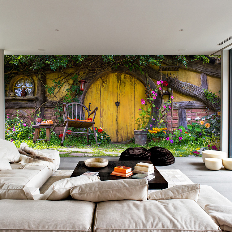 Free Shipping Continental Bucolic Old Door Wallpaper Bedroom Living Room Sofa Background Restaurant Large Mural Custom Size In Wallpapers From Home