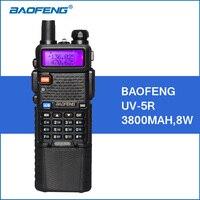 Baofeng UV 5R Walkie Talkie 3800mAh 8W VHF UHF Dual Band Handy UV5R Portable Walkie Talkie