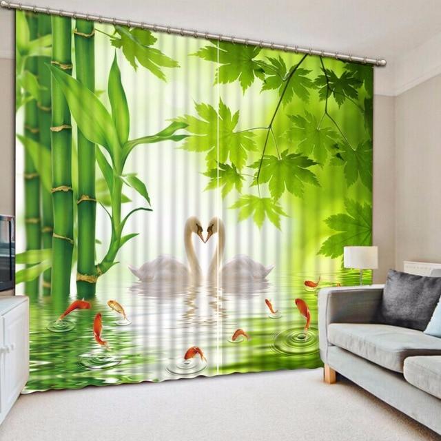 Foto Personalizar O Tamanho Casa Ddecorative Home Decor 3d Cortinas De  Bambu Verde Exterior Decoração Da Part 54