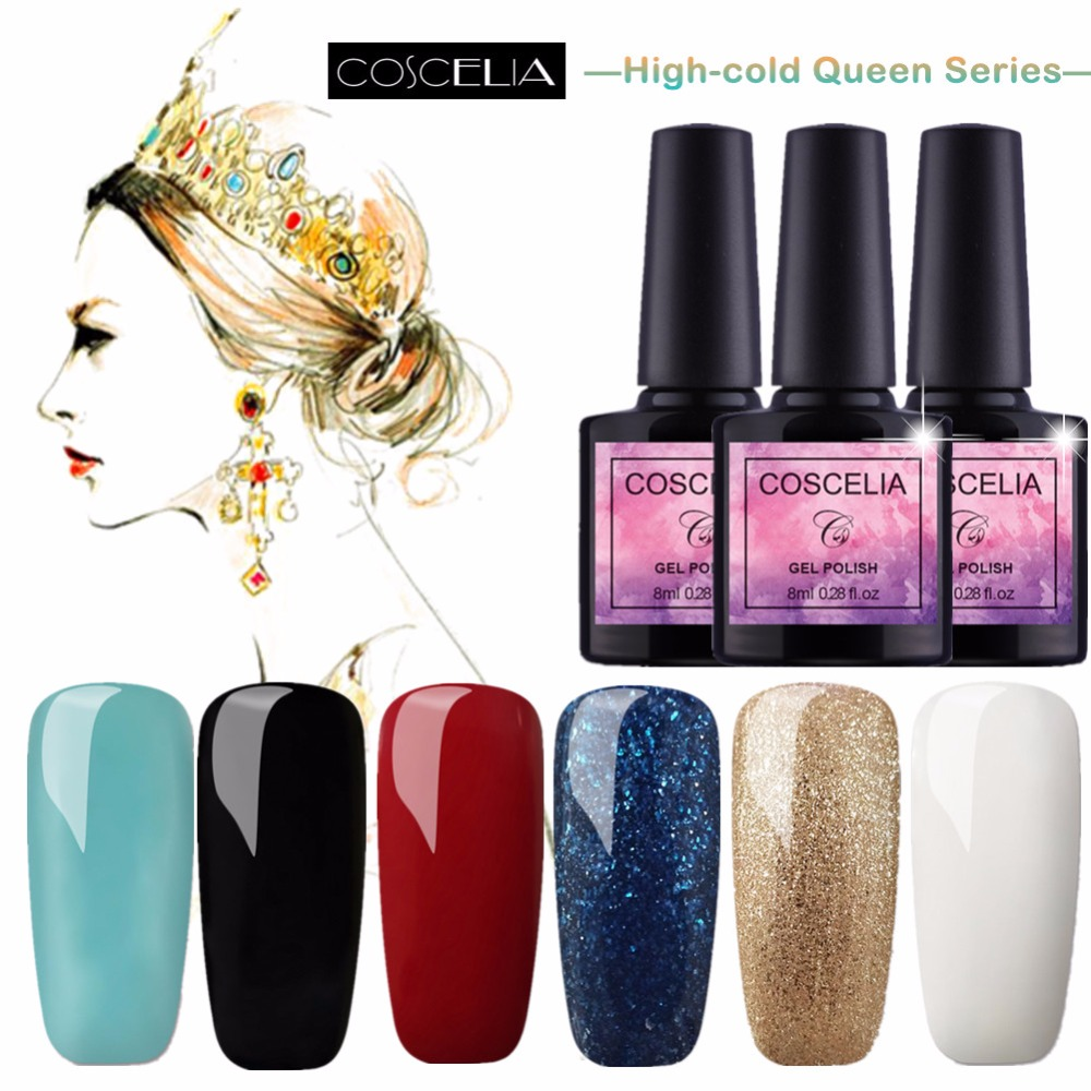 Queen Gel Nail Polish: COSCELIA 8ML 40 Colors Nail GEL Polish UV LED Long Lasting
