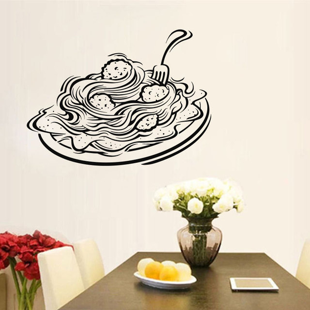 italian pasta wall decal window decal for restaurant foodshop italy