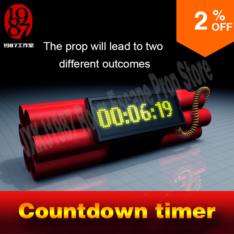 цена Room escape prop countdown timer enter the password before the countingdown to unlock and away frm chamber room онлайн в 2017 году