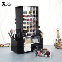 Acrylic Rotating Lipstick Holder Case Luxury Cosmetic Organizer Makeup Storage Display Box Stand Rack Gift For