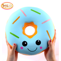Jumbo Giant Donut Squishy Cute Super Soft Slow Rising Squishies Fruit Scented squeeze Stress Relief for Children Toys