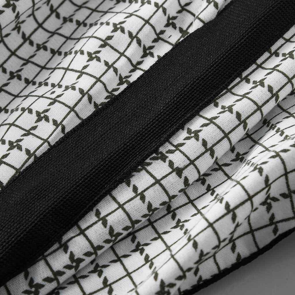 Zipper - Stripe Splicing Pocket Sport Work Casual Trouser Pants