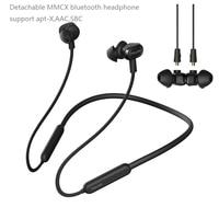 Pizen Detachable Neckband bluetooth headphones Apt X 10mm Dynamic unit waterproof sports headset CSR8645 inside aptx lossless BT