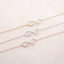 10 PCS/lot Fashion Infinity symbol hand catenary for woenm wholesale free shipping(China)