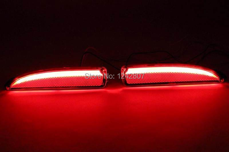Reflector, LED Rear Bumper Light, rear fog lamp, Brake Light For mazda 3 axela 2014 with 3 functions guiding light fast shipping new for toyota altis corolla 2014 led rear bumper light brake light reflector novel design top quality fast shipping
