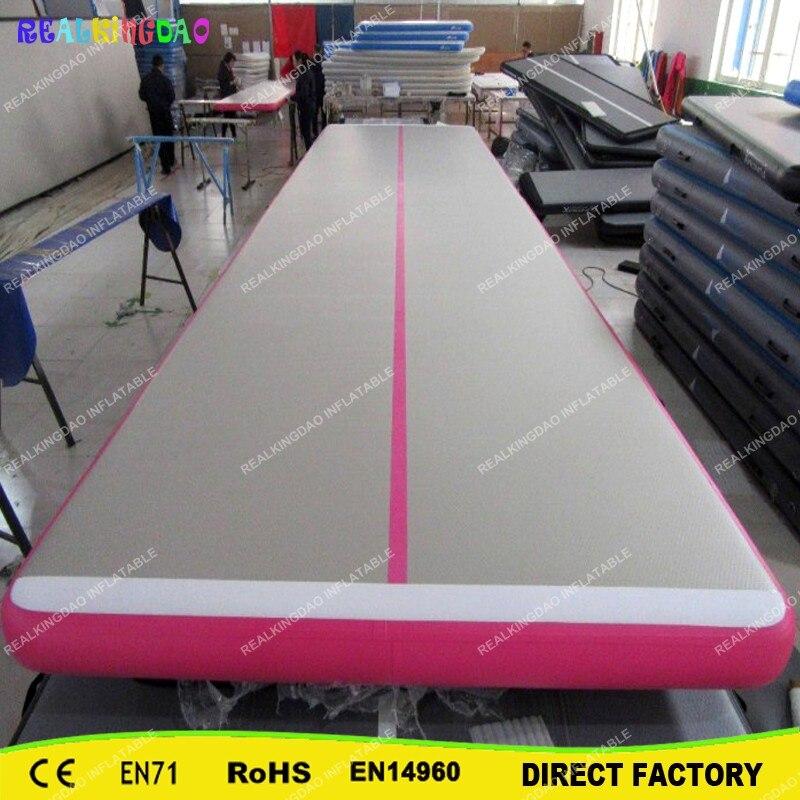 Trampoline gonflable de voie de dégringolade de l'usine directe 10x2x0.2 m, tapis de culbutage d'air, tapis gonflable de gymnase de voie d'air à vendre