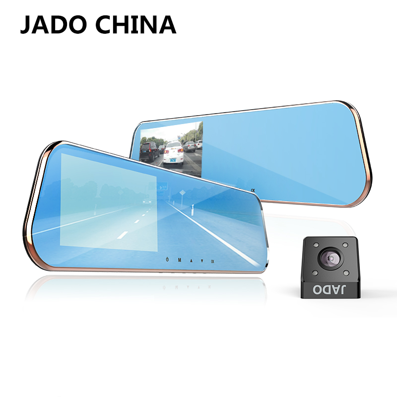 JADO D610S Novatek Car Dvr 5.0 IPS Screen Full HD 1080P Car Dvrs Dual Lens Recorder Car Camera Dashcam Rearview Mirror Registrar jado d680s автомобильный видеорегистратор