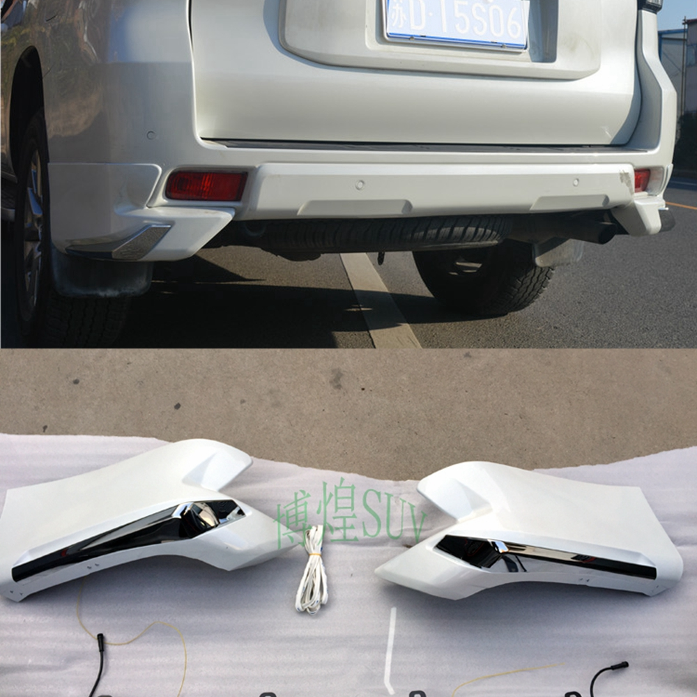 MONTFORD pour Toyota Cruiser Prado FJ150 FJ 150 2018 ABS plastique blanc couleur arrière coin pare-chocs protection des lèvres protection