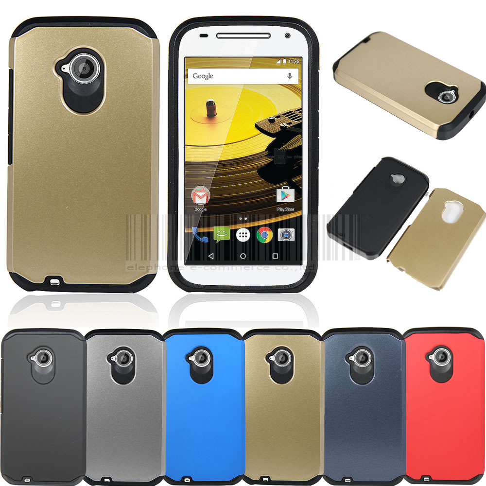 Case For Motorola Moto E 2nd Gen 2015 Slim Hybrid Shockproof Armor Case Hard Cover For Moto E 2nd Gen 2015