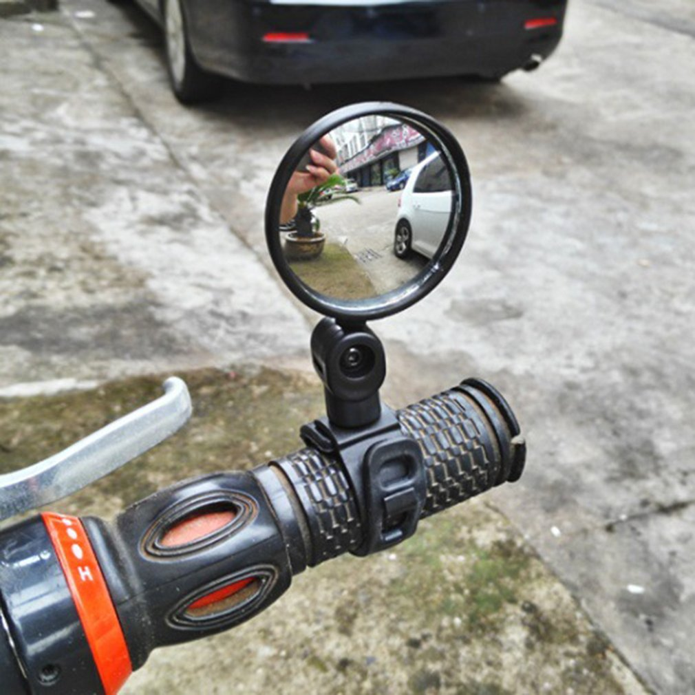 Mini Adjustable Bike Rearview Mirror Bike Bicycle Handlebar Flexible Safe Rearview Rear View Mirror 360 Degrees Rotate  Cycling