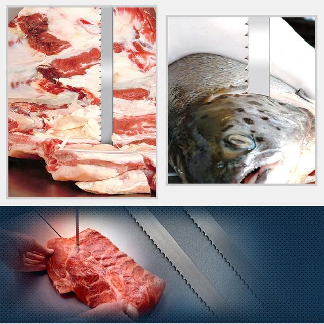 1650mm Band Saw Blades For Bone 1650*16*0.55mm*4 Teeth Band Saw Blades 16*0.55*1650mm Cutting Frozen Meat, Bone, Durable,