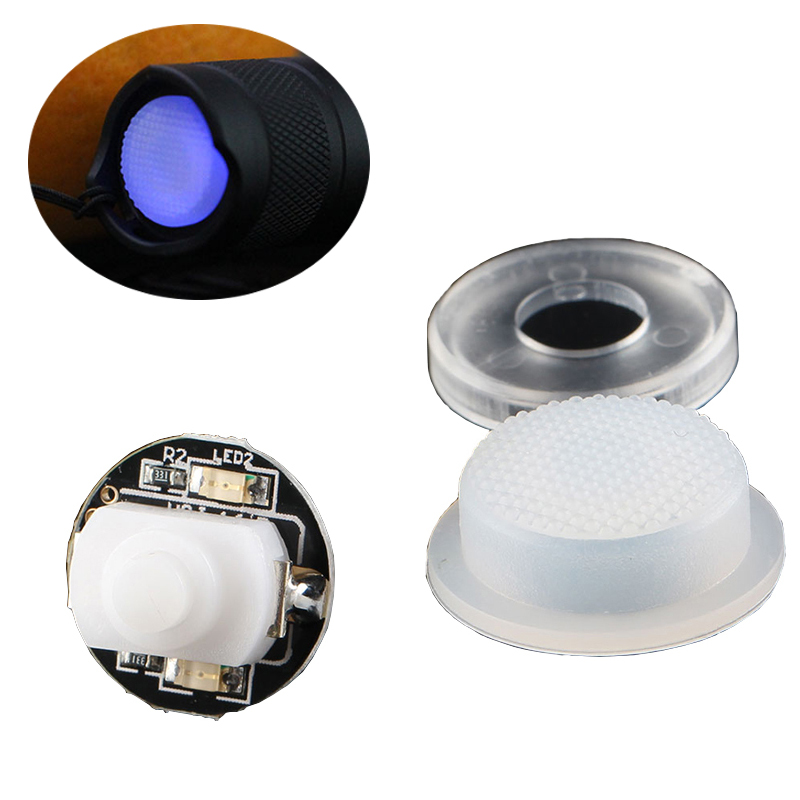 1PCS 1288 Switch With LED Blue Light For Convoy C8 M1 M2 S2 S2+ Flashlight Rubber Cap Base Lighting Accessories