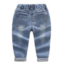 Fashion Casual Cartoon Themed Denim Baby Boy's Jeans