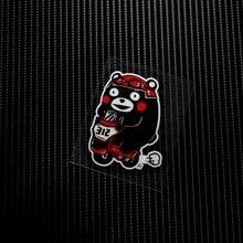 NO.LS044 Waterproof Cartoon Bear Reflective Car Stickers Decals MOTO GP Motorcycle Bike Motocross Helmet Windshield