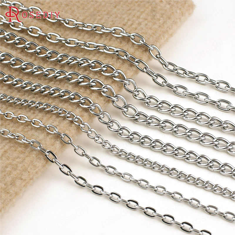 Wholesale Width 5mm 6mm 7mm 8mm Chrome plated  Iron High Quality Extended Twisted Chains 2 Meter(JM4531)