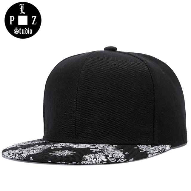 PLZ Men s Snapback Cap HipHop Baseball Cap Flat Visor Adjustable 2018  Summer New Sun Hat Skater 351418257297