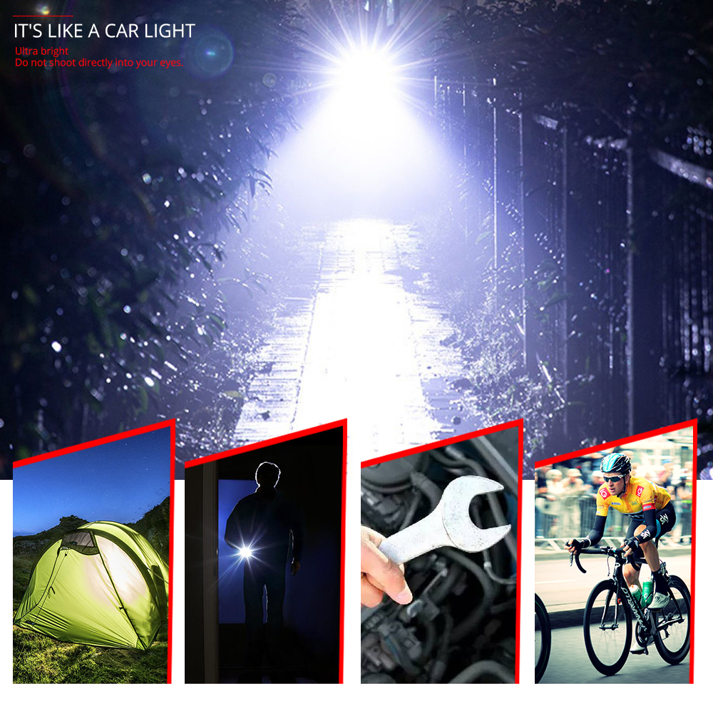 Купить с кэшбэком Gift Bike Light Kit High Power V6 L2 LED Rechargeable Tactical Flashlight 5 Modes Zoomable 18650 Bicycle Camping Lamp