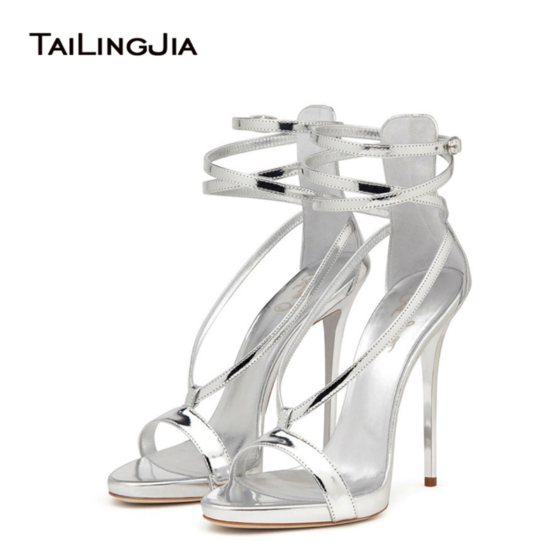 ФОТО Women Sandals 2017 New Fashion Summer Ankle Strap Open Toe High Heels Gladiator Sandals Party Dress Comfort  Plus Size Hot Sale