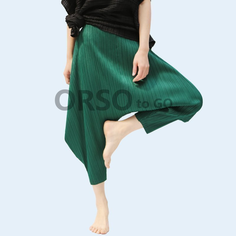 Azterumi Pleats Spring Summer Women High Waist Harem Pants Women Loose Casual Pleated Pant Gray Yellow