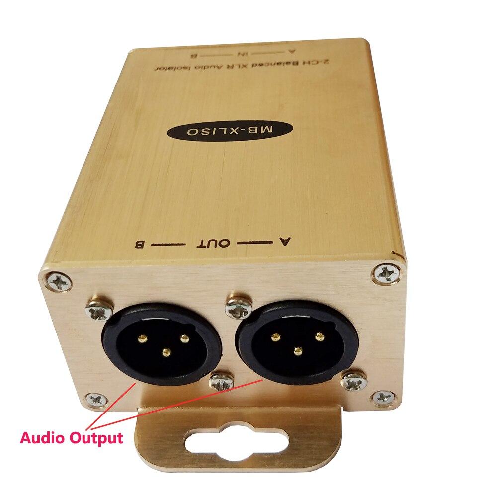 XLR Audio Ground Loop Isolation Transformer Balanced Audio Ground Loop Isolator Professional Audio Ground Loop Isolator все цены