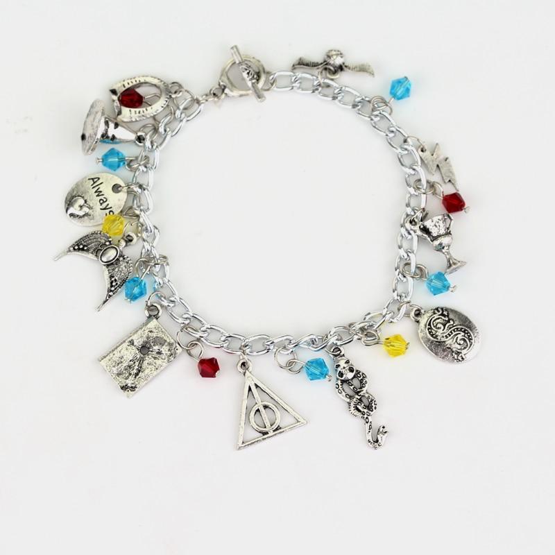 Wholesale Hogwarts Horcrux Charm Bracelet The Eagle Crown Bracelet Hat Slytherin Snake Cup Accessories Bracelets
