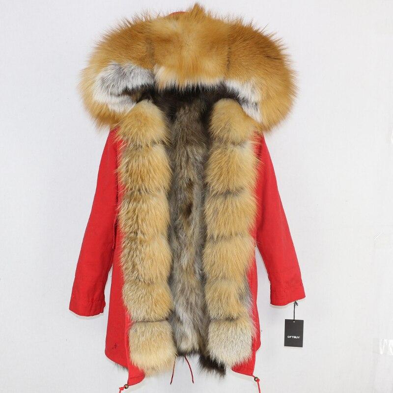 OFTBUY 2019 Winter Jacket Women Long Parka Real Fox Fur Coat Natural Raccoon Fur Collar Hood Thick Warm Streetwear Parkas New 81