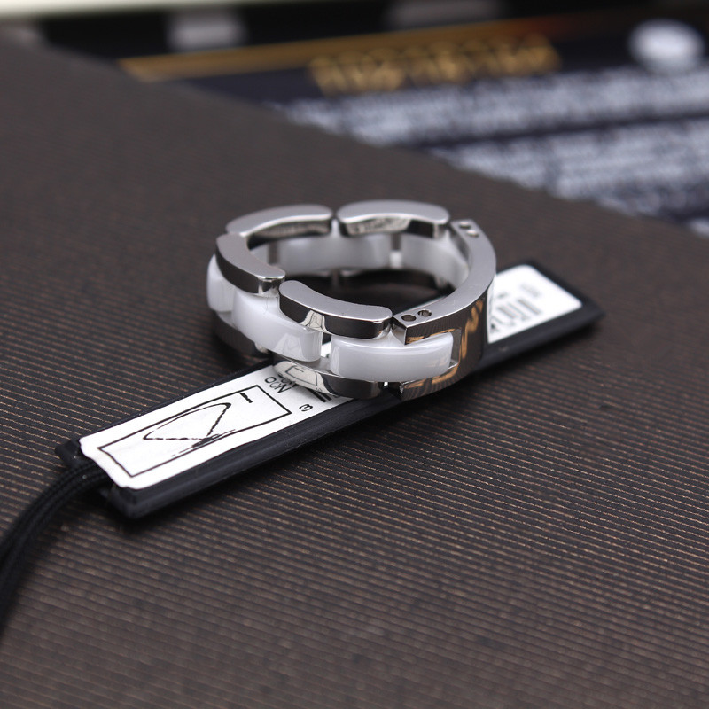 Image 4 - Classic 18KGP 316L Stainless Steel Ceramic Rings for Men Female  Couples Fashion Brand Charming Jewelry Free Shiping (GR207)ring  forceramic ringrings for men