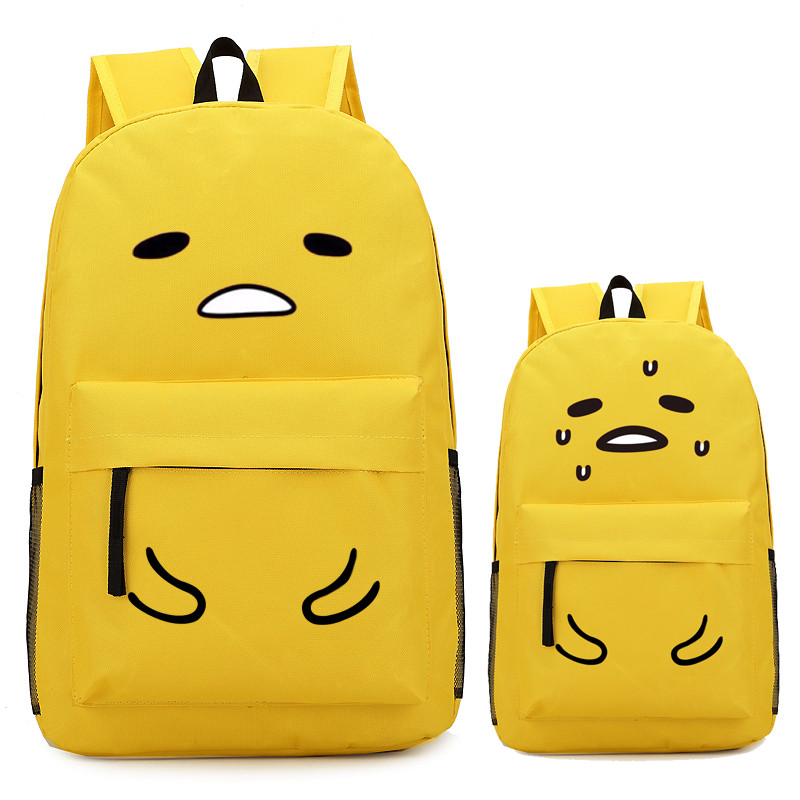 Lazy Egg Yellow Gudetama Anime Backpack Bag Printing School Backpacks Laptop Shoulder Bags Cosplay Gift