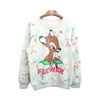 Winter New Fashion Women Pullovers Casual Printing Loose Long Sleeved Fleece Sweatshirts Teenagers High End Clothes