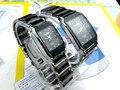 Longbo marca buena calidad de los amantes del reloj de cerámica par de cuarzo mujeres cuadrados de moda de calidad de acero relojes ocasionales de los deportes negro