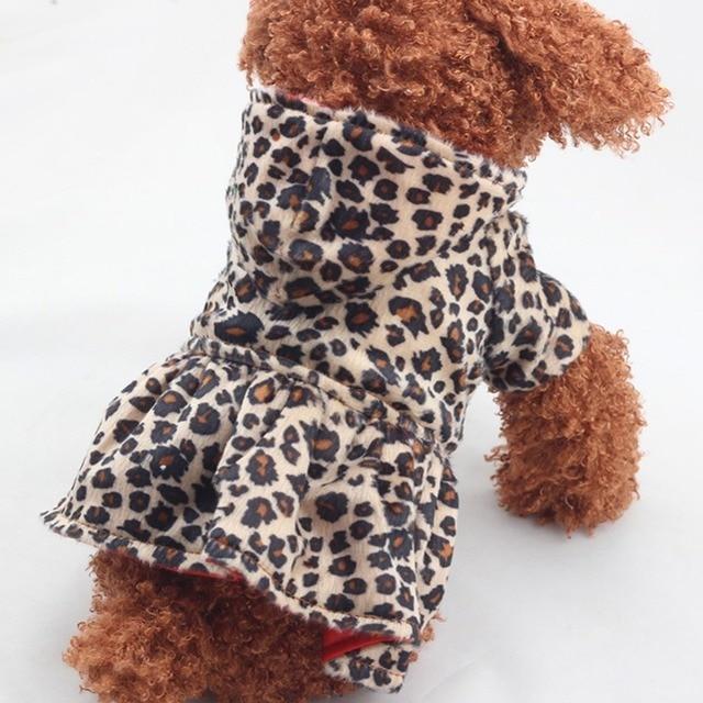 Animali domestici Cani Leopard Vestito Magliette e camicette Caldo Morbido Cucci