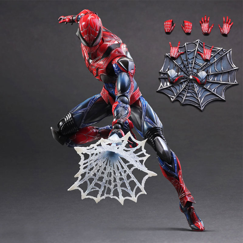 Pandadomik Spiderman Large Size 28cm PVC 11inch Toy Figure Model Avengers Action Toy Figures Cool Gift for Man Boys Marvel Toys the flash man aciton figure toys flash man action figures collectible pvc model toy gift for children