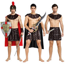 Greece Knight Costume Acient Rome Clothing Cosplay Carnival Halloween Costumes for Women Men Fancy Dress Supplies