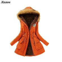 2018 New Parkas Female Women Winter Coat Thickening Cotton Jacket Womens Outwear for Xnxee