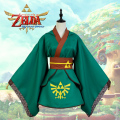 The Legend of Zelda Cosplay Green Girl Queen Kimono Coat Zelda Animation Cos Halloween Party Costumes Clothing