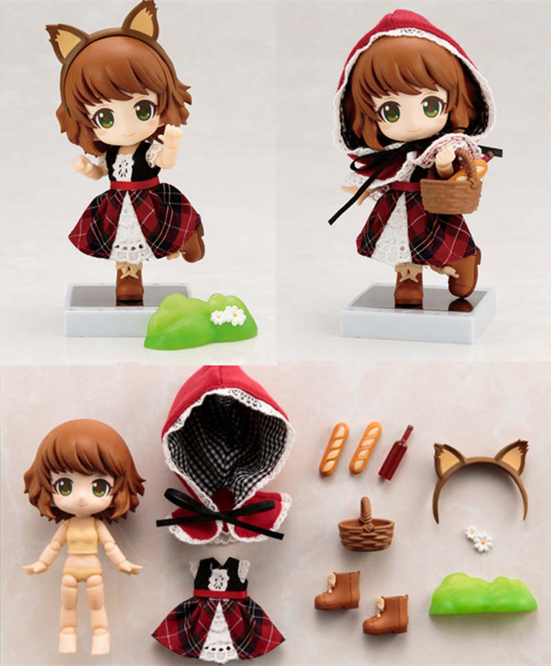 Nendoroid Cute Little Red Riding Hood Variant Mini Action Figure Real Clothes Ver. PVC figure Toy Brinquedos Anime 10CM ( China Version )