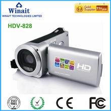 Home use mini video camcorder HDV-828 HD 1280*720 max 18mp 2.7″ LCD display photografia PC camera 10s self-timer USB/TV output