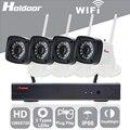 Holdoor 4CH NVR Комплект Системы Домашней Безопасности 720 P Ip-камера Беспроводной Проводной Сети Водонепроницаемый IP65 Motion Detect Ночного Видения