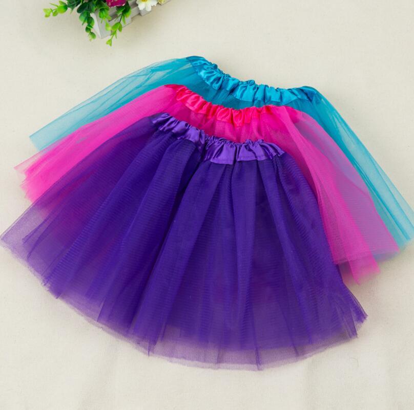 Free Shipping 2-7 Years Lovely Fluffy Chiffon Baby Girls Tutu Skirts Children Skirt Princess Dance Party Tulle Skirt