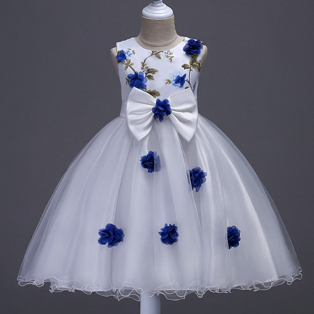 Girl new sleeveless flower girl dress in the big child flower dress  children birthday party dress 1d90dcb52683
