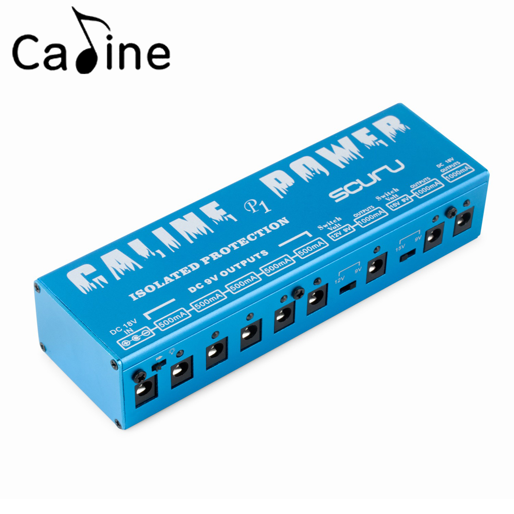 caline p1 high power guitar effect pedal power supply 8 isolated output 9v 12v 15v 18v short. Black Bedroom Furniture Sets. Home Design Ideas