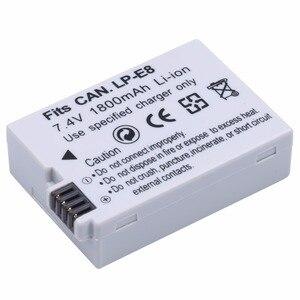 Image 2 - PROBTY 1 個 1800 mAh LP E8 LP E8 LPE8 カメラバッテリー電池 AKKU キヤノン Eos 550D 600D 650D 700D 反乱 X4 X5 X6i X7
